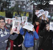 One Bilion Rising. A Cancello Scalo manifestazione contro la violenza sulle donne